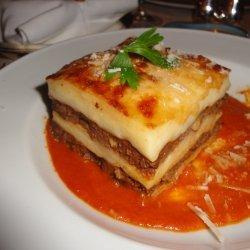 Creamy Beef Lasagna recipe