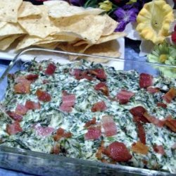 Hot Spinach Dip With Bacon recipe