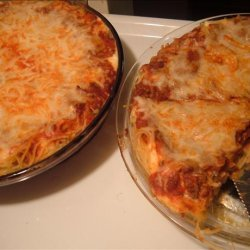 Easy Spaghetti Pie recipe