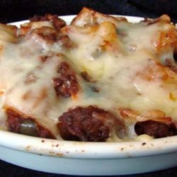 Baked Penne With Meat Sauce recipe