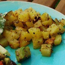 Greek Diced Potatoes for BBQ recipe