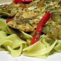 Chicken Paillards With Artichokes & Dijon Sauce recipe