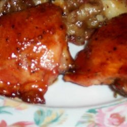 Sweet Barbecue Broiled or Grilled Chicken recipe
