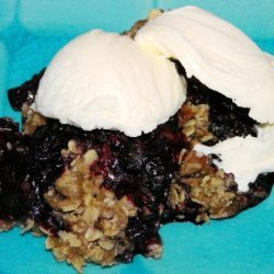 Microwave Blueberry Crumble recipe