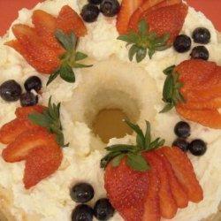 Strawberry Cream Angel Food Cake recipe