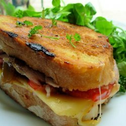 A Grilled Roasted Turkey & Provolone Sandwich recipe