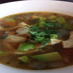 Spicy Avocado Soup With Chicken and Lime recipe