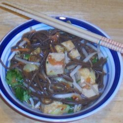 Soba Noodle Salad With Vegetables and Tofu recipe