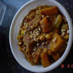 Pumpkin, Banana and Chickpea Curry recipe