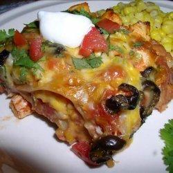 Taco Fiesta Chicken Lasagna recipe