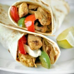 Chicken Fajitas With Lime, Garlic and Bell Peppers recipe