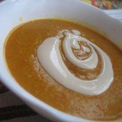 Red Lentil Stew With Yogurt Sauce recipe