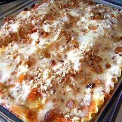 Baked Butternut Squash, Raisin and Pine Nut Lasagna recipe