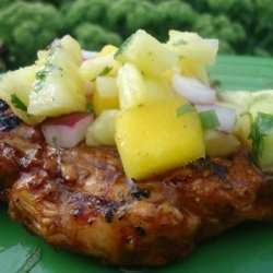 Taxi Stand Jerk Chicken With Pineapple Mango Salsa recipe
