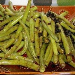 Green Beans With Balsamic-Shallot Butter recipe
