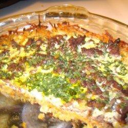 Meat & Potato Quiche recipe