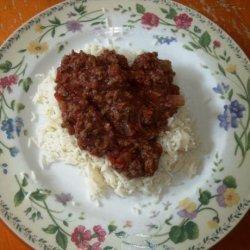Beef over Rice recipe