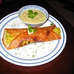 Masala Dosa with Coconut Chutney (South Indian Savory Crepes with filling) recipe