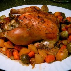 Roasted Chicken and Root Veggies recipe