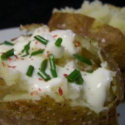 Fast! Potatoes Baked in the Micro and Oven With Sea Salt Crust recipe