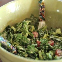 Romaine Salad with Creamy Garlic Dressing recipe