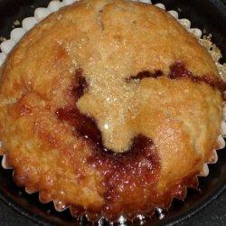 Stuffed  Strawberry Muffins recipe
