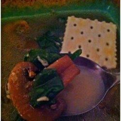 Low Calorie Spinach & Mushroom Wedding Soup recipe