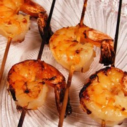 Aussie Shrimp on the Barbie With Orange Ginger Sauce recipe