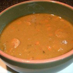 Pea Soup With Sausage - Crock Pot recipe