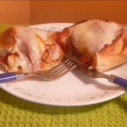 Chicken Parm Meatball Subs recipe