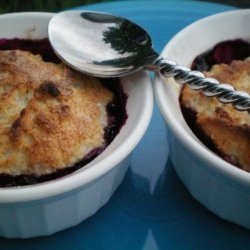 Blueberry Cobblers for Two - 4 Ww Points recipe