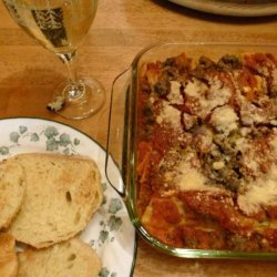 Baked Manicotti With Meat Sauce recipe