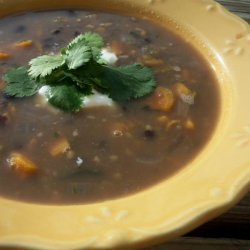 Black Bean Soup With Sweet Potatoes recipe