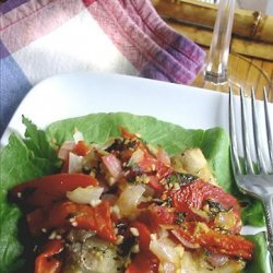 Egyptian Red Snapper in Red Pepper Mint Sauce recipe