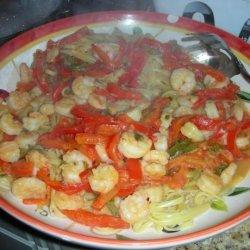 Linguine with Spicy Shrimp Sauce recipe