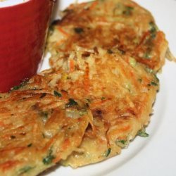 Crispy Carrot and Potato Pancakes (Vegetarian) recipe