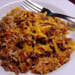 Cheesy Beef and Rice Bake recipe