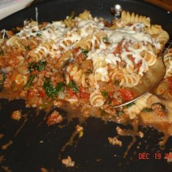 Ground Beef and Spinach Pasta Bake recipe