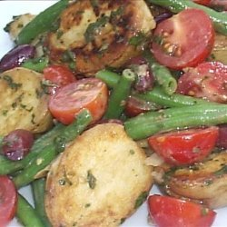 Grilled Baby New Potato Salad With French Green Beans and Mint ( recipe
