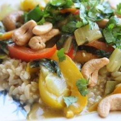 Colorful Cashew Curry recipe