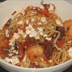 Pasta with Spicy Shrimp and Sun-dried Tomatoes recipe