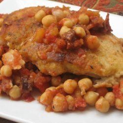 Spanish Chicken With Chorizo and Chickpeas recipe