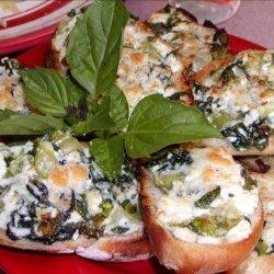Spinach and Ricotta Bruschetta recipe