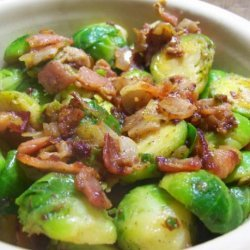 Yummy Brussels Sprouts With Bacon & Onion recipe