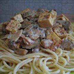 Mushroom Tofu Stroganoff recipe