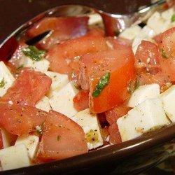 Mozzarella and Tomato Salad With Italian Basil Salad Dressing recipe