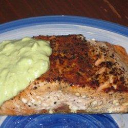 Salmon With Creamy Avocado Sauce recipe