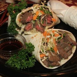 Teriyaki Beef Wraps recipe