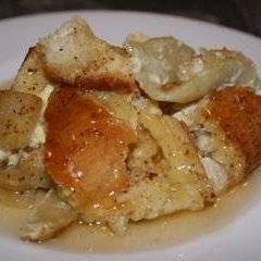 Apple Bread Pudding With Calvados Sauce recipe