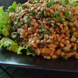 Lentil and Spinach Salad With Onion, Cumin and Garlic recipe